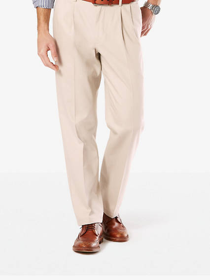 Signature Stretch Khaki Pleat, Classic Fit