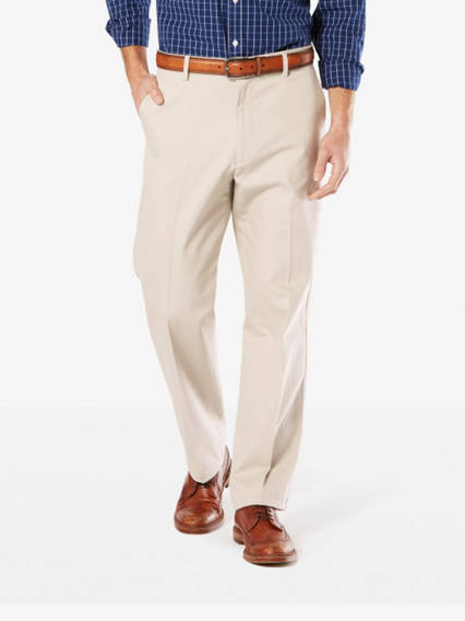 Men's Signature Stretch Khaki Pants, Relaxed Fit