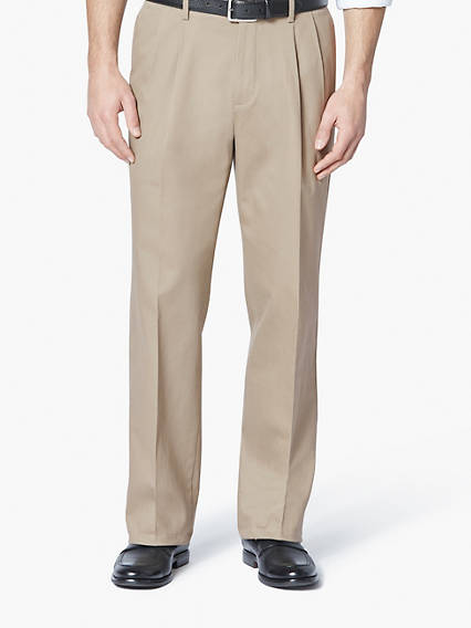 Signature Stretch Khaki Pleat, Relaxed Fit