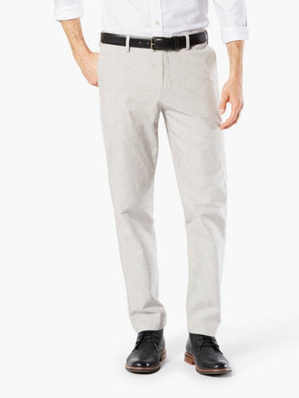 Men's Clean Khaki Pants, Slim Fit