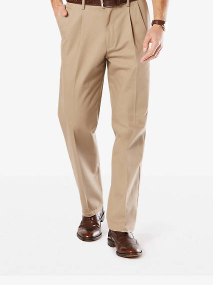 Big & Tall Signature Stretch Khaki Pleat