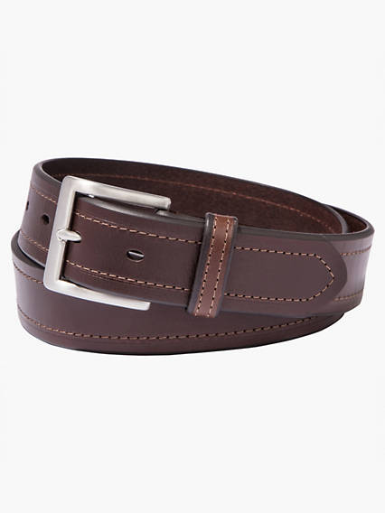 Beveled Edge Leather Belt