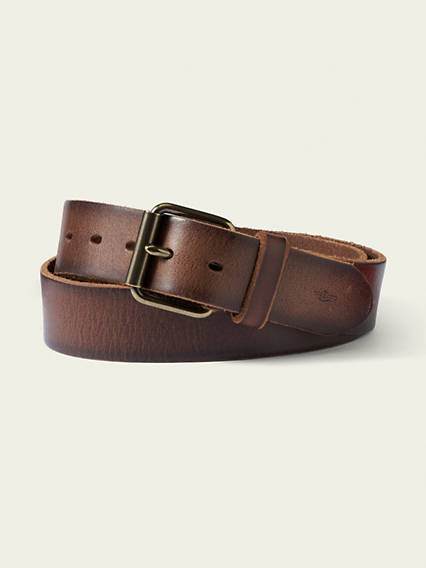 Roller Buckle Leather Belt