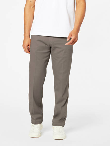 Men's Easy Stretch Khaki Pants, Straight Fit
