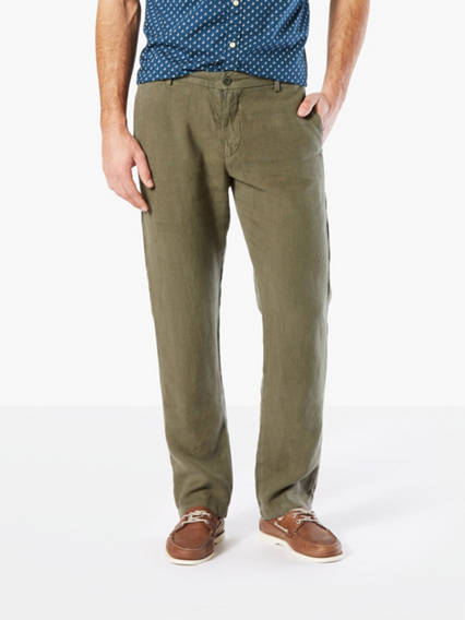 Premium Linen Pants, Slim Tapered