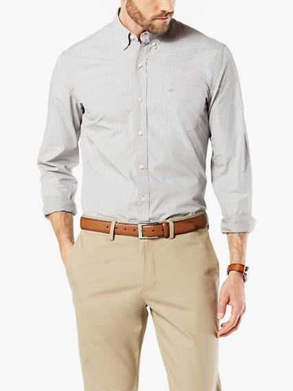 ESSENTIAL POPLIN SHIRT, SLIM FIT