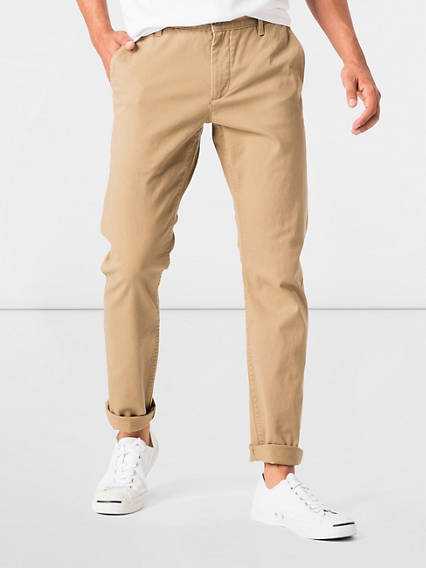 Washed Chino, Skinny Tapered Fit - Stretch Twill