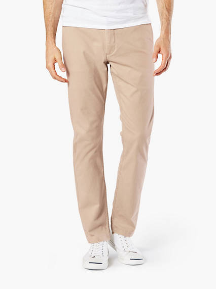 WASHED KHAKI, SKINNY TAPERED FIT - STRETCH LIGHTWEIGHT TWILL