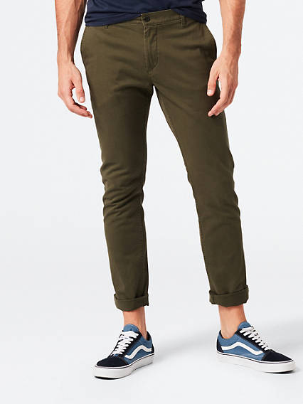 Washed Chino, Skinny Fit- Stretch Twill