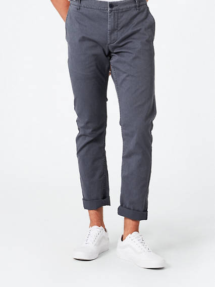 Washed Chino, Skinny Fit - Stretch Twill