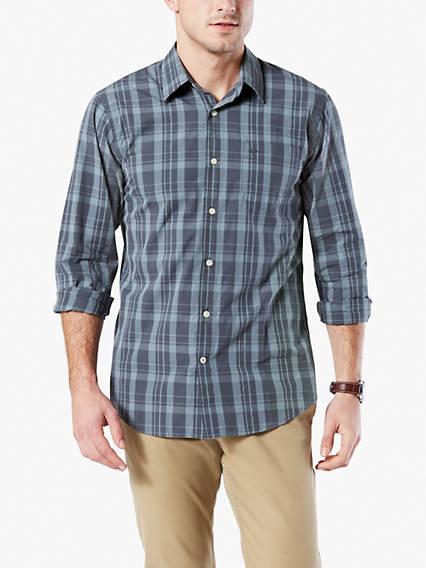 Laundered Poplin Shirt, Standard Fit
