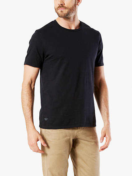 Crewneck Tee Shirt, Slim Fit