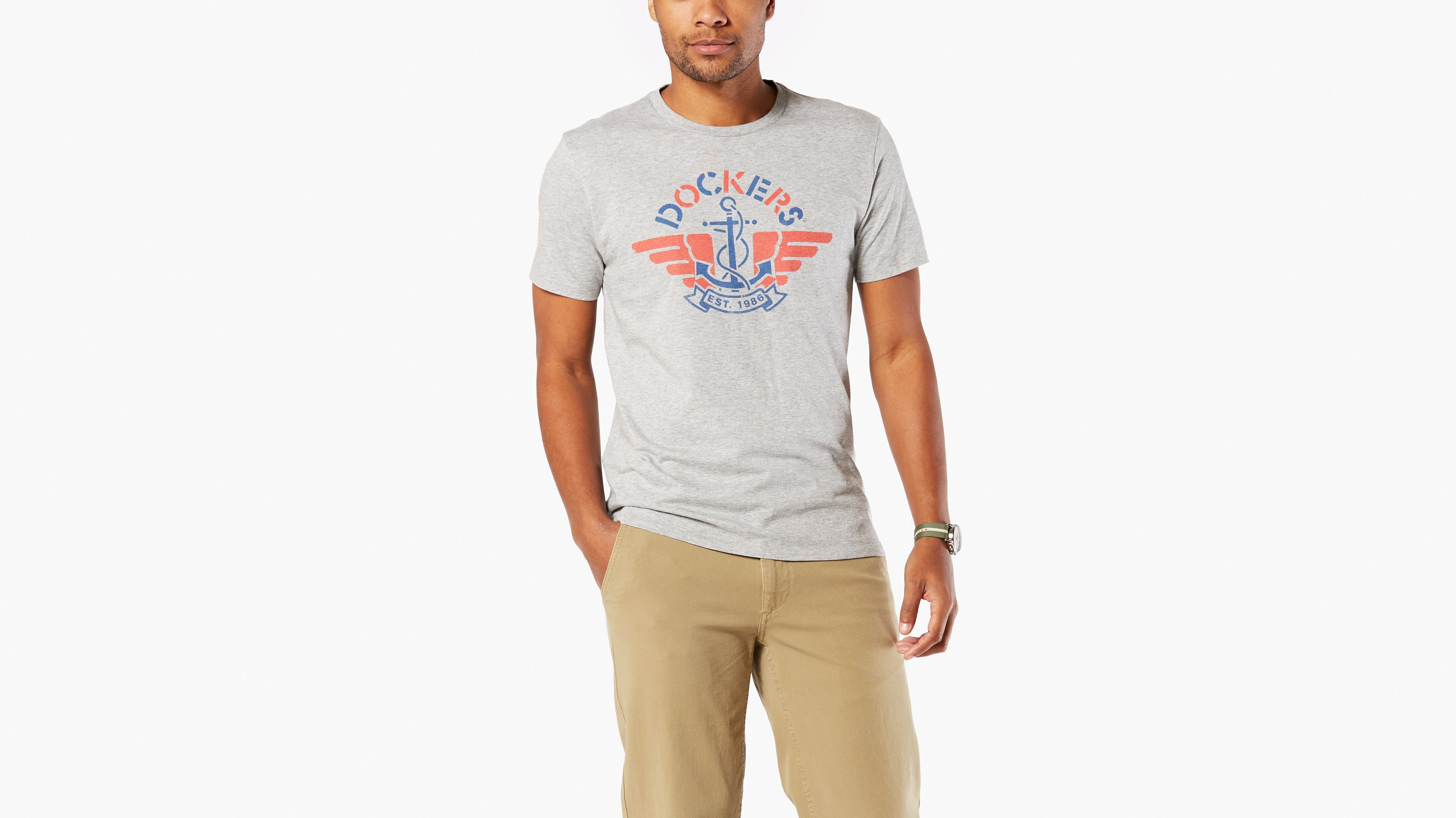 Tee Es Dockers® Tee Logo Dockers® Logo Grey Grey IBxwqUZ1