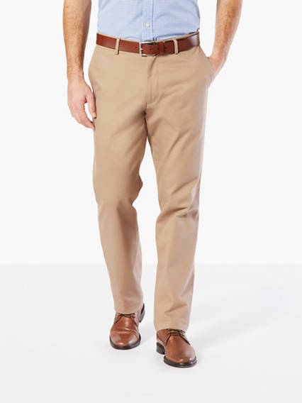 Clean Khaki Pants, Straight Fit