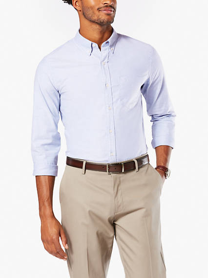 Stretch Oxford, Slim Fit