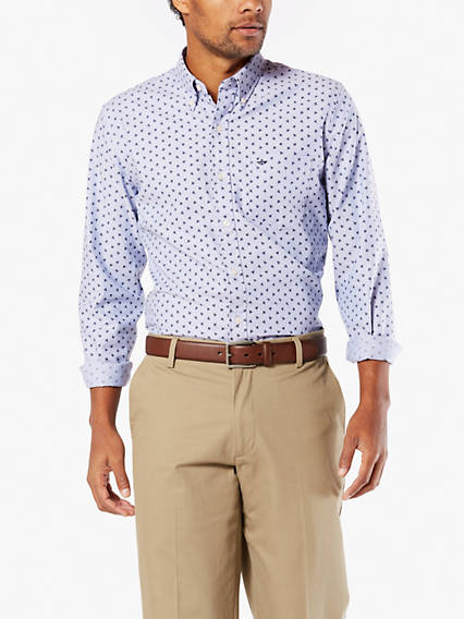 Stretch Oxford Button-Up Shirt, Slim Fit