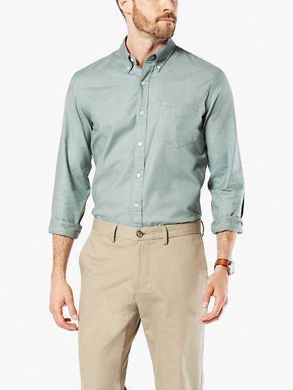 Stretch Oxford, Slim Fit - Garment Dye