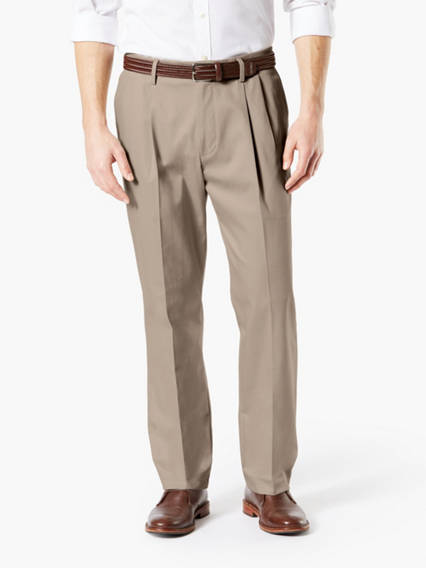 Big & Tall Superior Khaki Pleated Pants