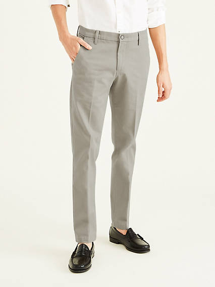 Workday Khaki with Smart 360 Flex, Slim Tapered