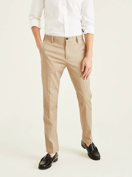 Easy Stretch Khaki Pants, Slim Tapered Fit