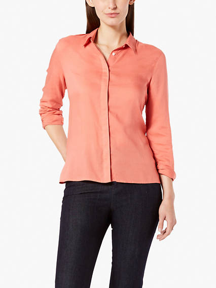 Covered Placket Top