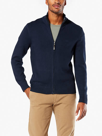 Cotton Full-Zip Sweater