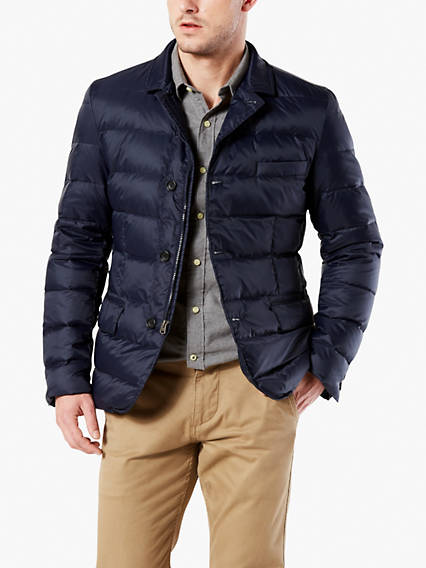 Quilted Down Blazer