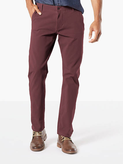 Alpha Khaki With Smart 360 Flex, Slim Tapered Fit