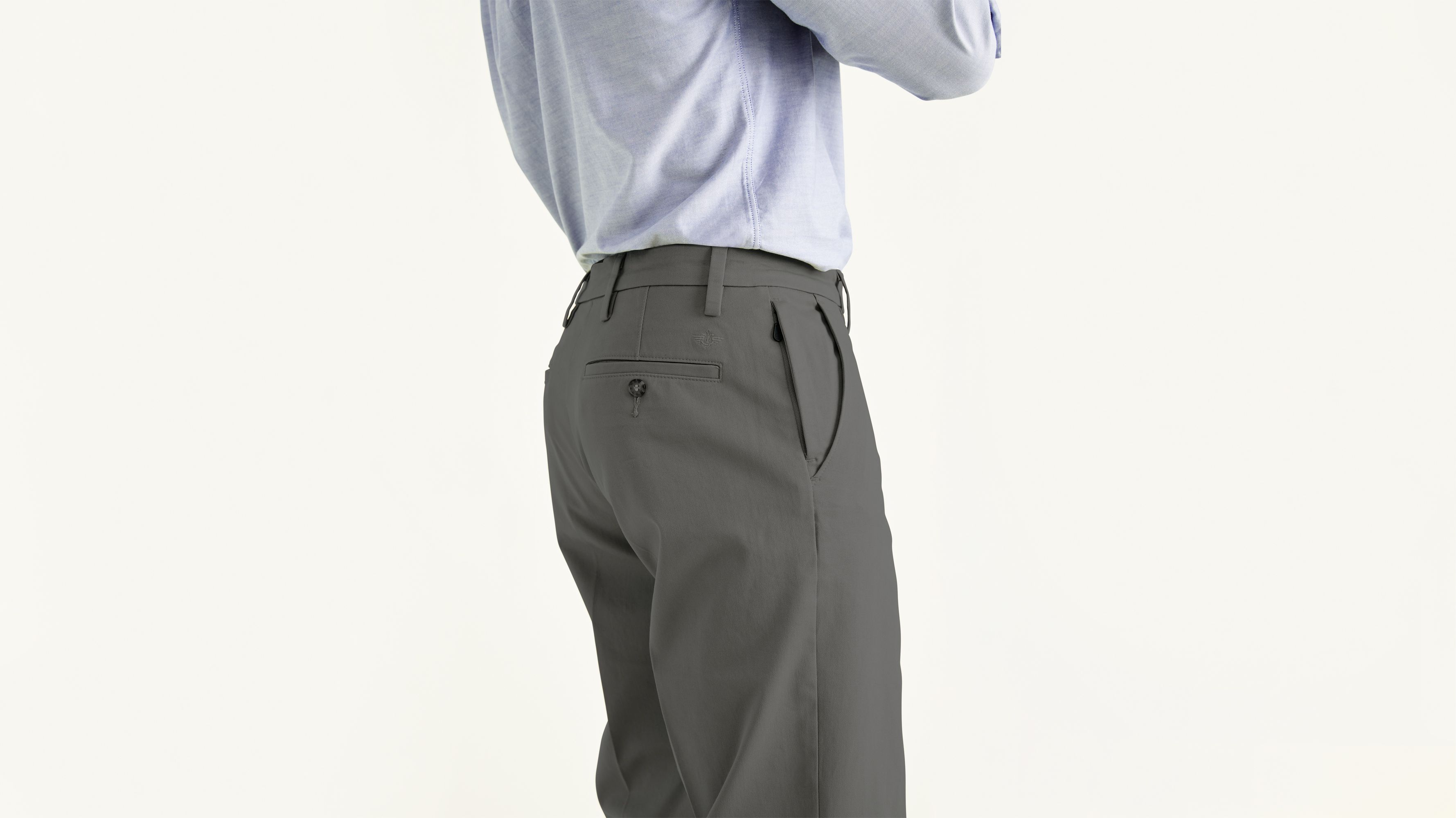1ffbe44d0e4e Workday Khaki Pants With Smart 360 Flex™, Classic Fit - Grey 399830004 |  Dockers® US