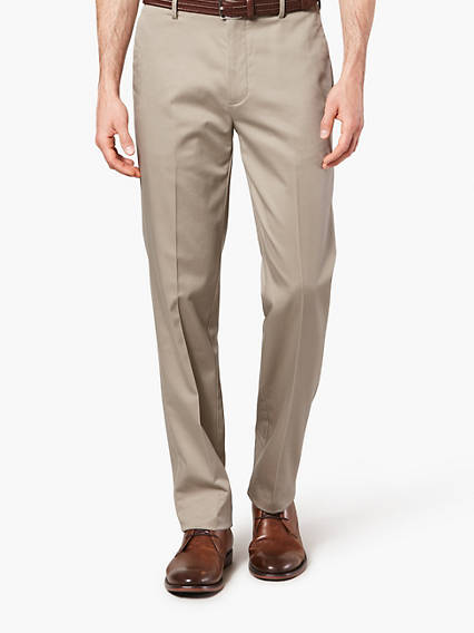 WRINKLE FREE KHAKI, SLIM FIT - STRETCH TWILL