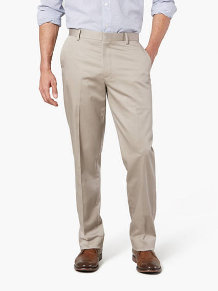 Wrinkle Free Khaki Pants, Straight Fit