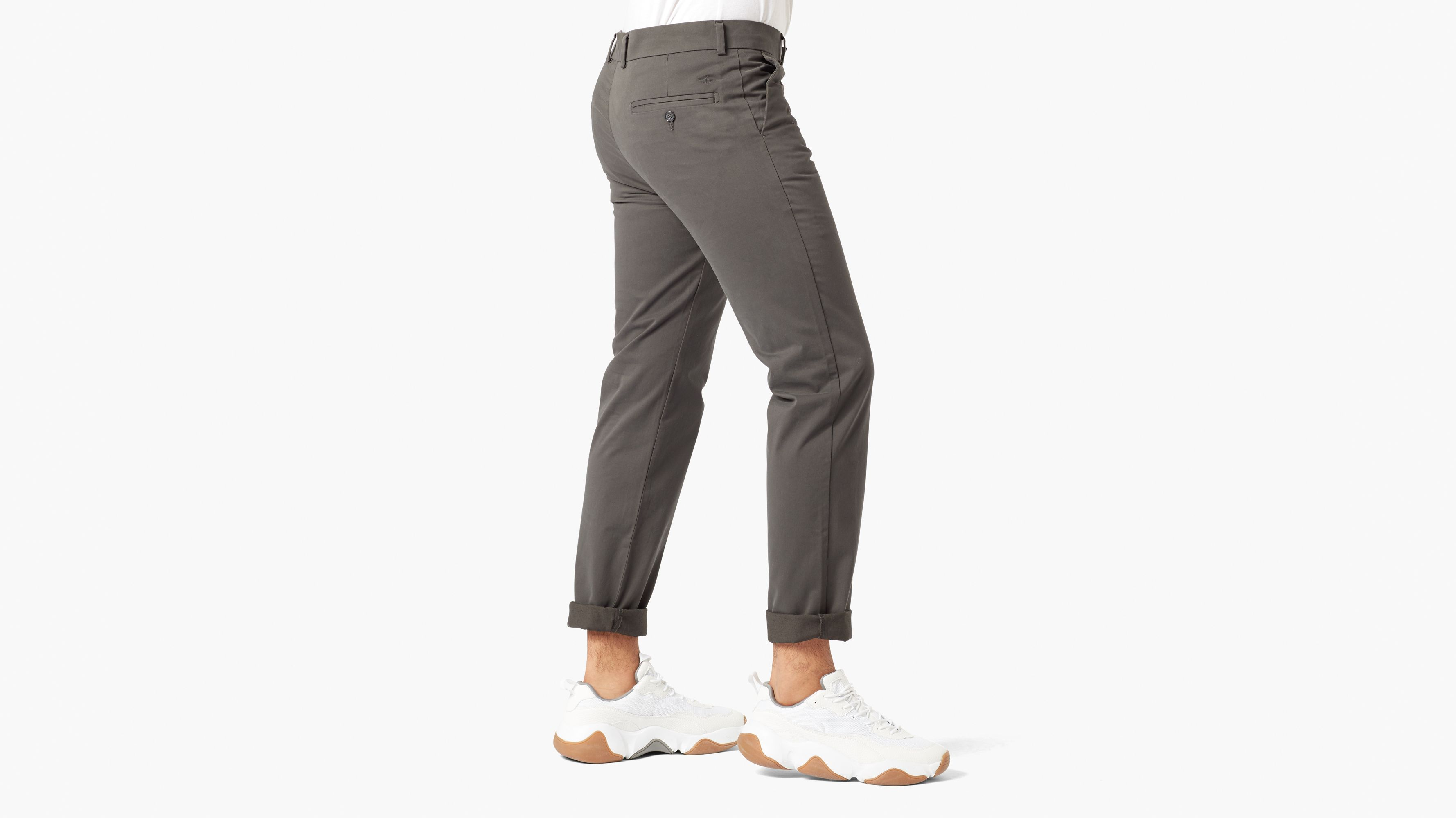 Creased Chino, Extra Slim Fit Stretch Sateen