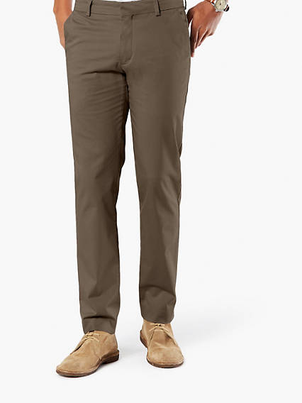 CREASED KHAKI INSIGNIA, EXTRA SLIM FIT - STRETCH SATEEN