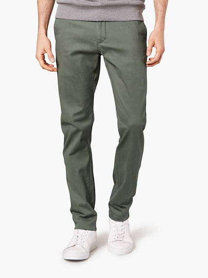 Washed Khaki, Slim Tapered - Stretch Twill