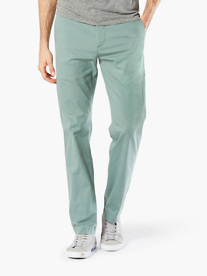 Washed Khaki Pants, Slim Tapered Fit, Lightweight