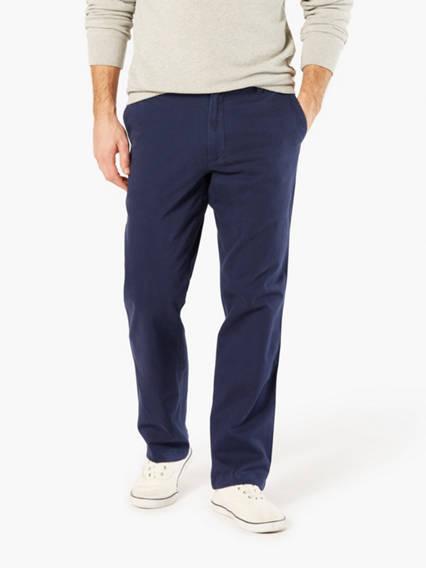Washed Khaki Pants, Straight Fit