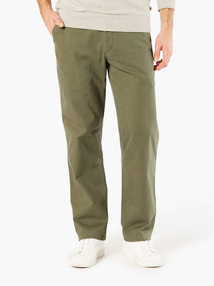 Washed Chino, Straight Fit - Stretch Twill