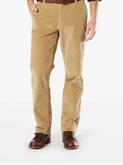 Washed Khaki Cord, Straight Fit