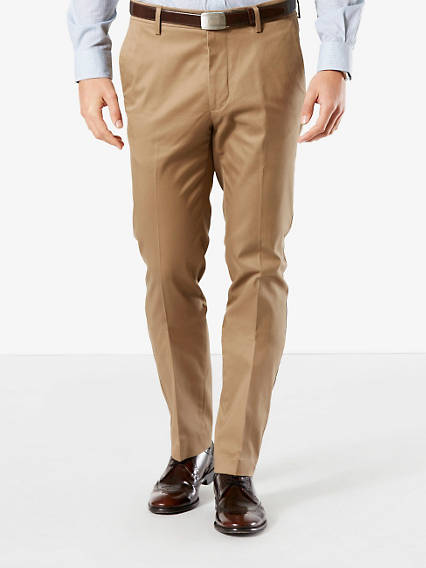 Signature Iron Free Khaki Pants, Slim Fit