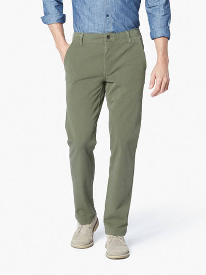 Downtime Khaki 4-Way Stretch Slim Tapered