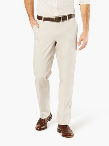 Signature Stretch Khaki Pants, Straight Fit