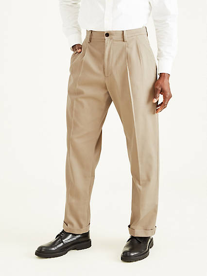 Easy Stretch Khaki Pleat, Relaxed Fit