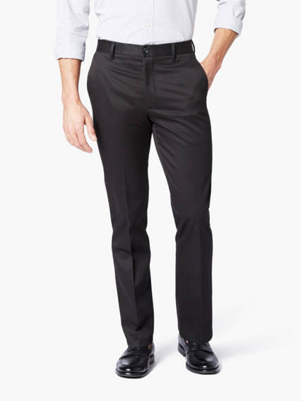 Signature Stretch Khaki Pants, Slim Tapered Fit