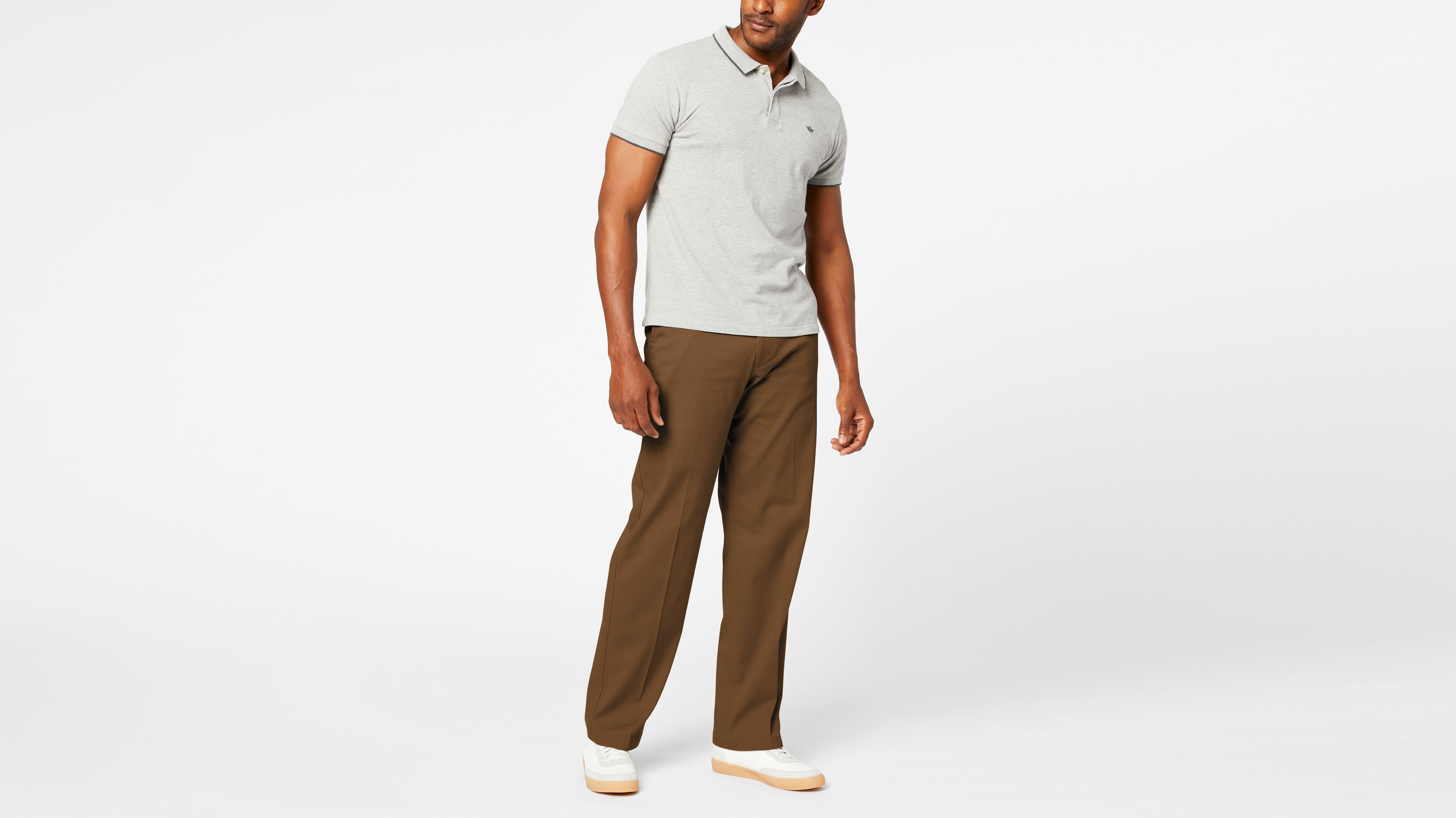 Mens Iron Co Dark Tan C3825 Size 32 x 32 Comfort Fit Straight Leg Pants