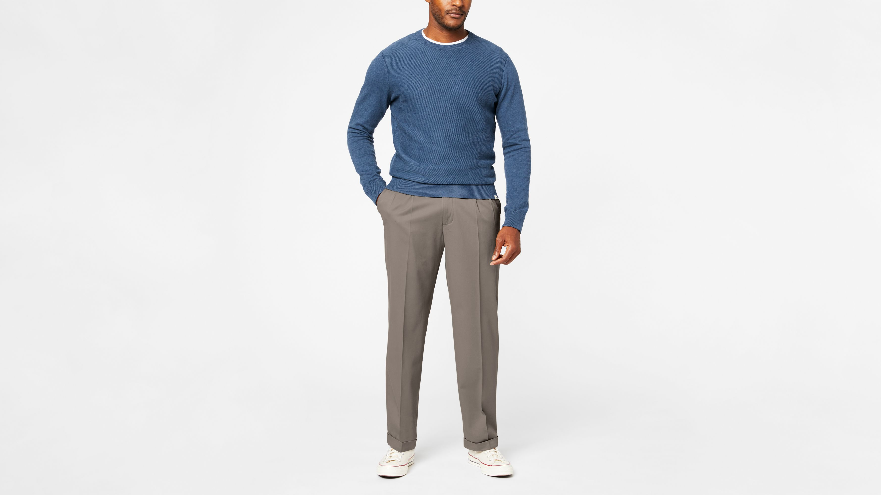 42eed77f4fa37b Comfort Khaki Pleated Pants, Relaxed Fit - Brown 478760003 | Dockers® US