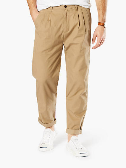 DOCKERS® ALPHA DOUBLE PLEAT CROP - LIGHTWEIGHT TWILL