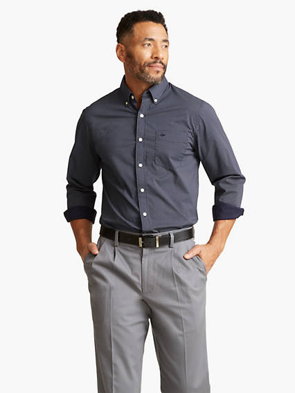 Signature Comfort Flex No Wrinkle Button-Down Shirt