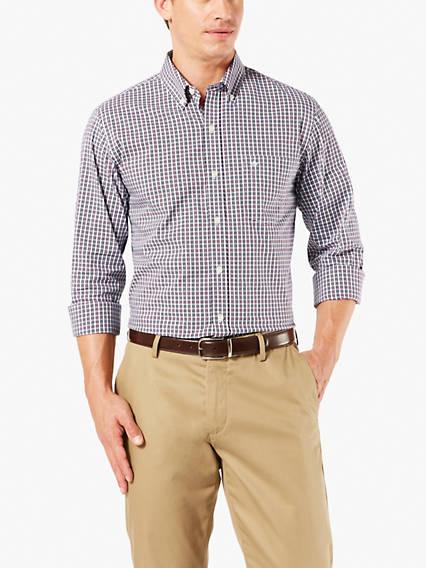 Signature Comfort Flex, Button Down Shirt, Standard fit