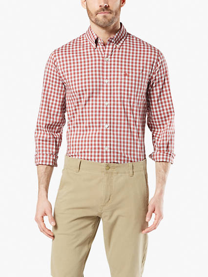 Signature Comfort Flex, Button Down Shirt, Standard fit