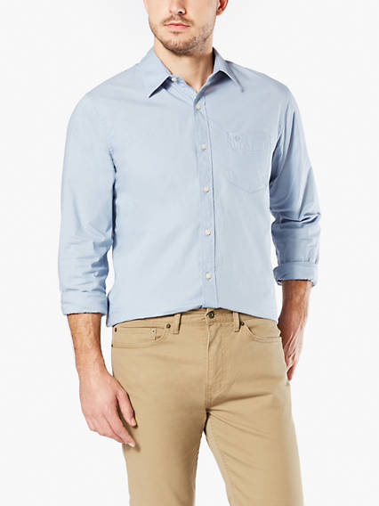 Washed Poplin Shirt, Standard Fit